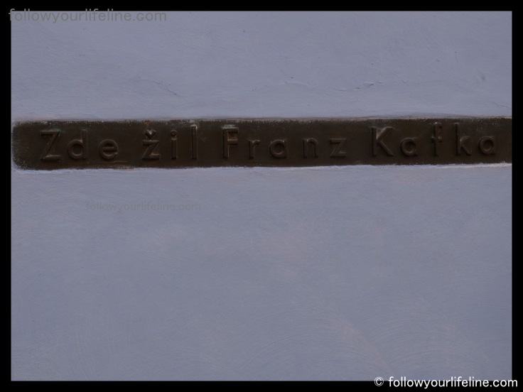 Hier lebte Franz Kafka